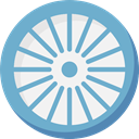 India, indian, Buddhist, national, Chakra, buddhism, hinduism, Cultures CornflowerBlue icon