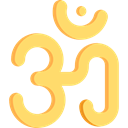Om, oriental, Asian, religion, indian, Yoga, lotus, Cultures, religious, signs, meditation, hinduism Khaki icon
