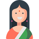 Avatar, India, oriental, Asian, indian, people, woman DarkSlateGray icon