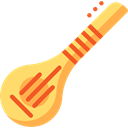 Asia, Sitar, musical instrument, String Instrument, Music And Multimedia, India, music Black icon