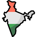 Map, Borders, India, Geography, Nation, Maps And Location, Frontiers Black icon