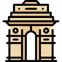 landmark, Monuments, Mumbai, Architectonic, Gate Of India Black icon