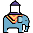 India, elephant, zoo, Animals, Wild Life, Animal Kingdom Black icon