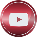 Social, youtube, media, Contact, web Brown icon