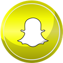 media, Contact, web, Social, Snapchat Yellow icon