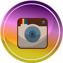 media, Contact, web, Social, Instagram Goldenrod icon