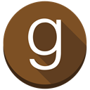 Books, round, g, social media, Goodreads, Ebooks SaddleBrown icon
