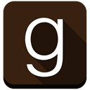 g, social media, Goodreads, Ebooks, Books, square Black icon