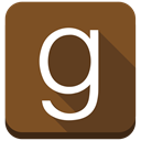 Books, square, g, social media, Goodreads, Ebooks SaddleBrown icon