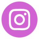 Circled, insta, social media, Social, Instagram, media, network Orchid icon