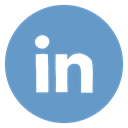 Linkedin, Social, Linked in, media, network, social media, Circled CornflowerBlue icon