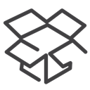 dropbox, social media Black icon