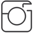 social media, Instagram DarkSlateGray icon