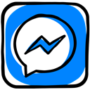 media, Message, Messenger, Facebook, Social, Communication, texting DodgerBlue icon