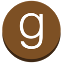 read, round, g, social media, Goodreads SaddleBrown icon
