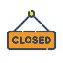 sign, online, Closed, shopping, Shop Black icon