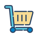 online, shopping, trolley, Shop Black icon
