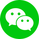 network, Chat, media, Social, Wechat, Logo, Circle Lime icon