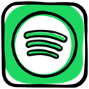 music, playlist, Spotify, Band, songs, Social, radio, media MediumSeaGreen icon