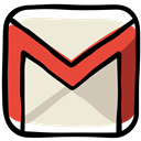 Social, Communication, Message, Letter, Contact, gmail, media, Email AntiqueWhite icon