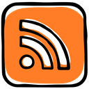 web content, web, feed, Rss, Social, rich site summary, media DarkOrange icon