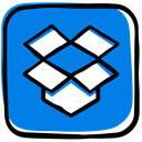 Cloud, storage, Social, file sharing, Cloud storage, File Hosting, Box, dropbox, media DodgerBlue icon