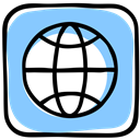 www, Social, website, world wide web, media, earth, world, web LightSkyBlue icon