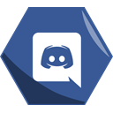 App, Social, Hexagon, Awesome, Discord DarkSlateBlue icon