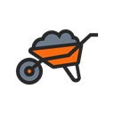 Agriculture, Farm, Wheelbarrow, plant, nature, garden, Farming Black icon
