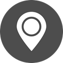 Map, marker, navigation, Gps, location, Address, cercle DarkSlateGray icon