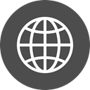global, globe, international, world, Circle, travel, Language DarkSlateGray icon