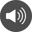 music, sound, speaker, volume, Audio, Circle DarkSlateGray icon