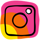 Camera, media, Community, photo, App, Social, Instagram DeepPink icon