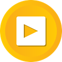 film, movie, video, player, play, start Orange icon
