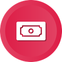 Money, stack, Dollar, profit, savings, earnings Crimson icon