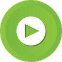 film, movie, video, player, play, start YellowGreen icon