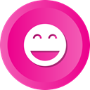 Face, happy, smiley, smile, Emoji DeepPink icon