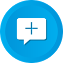 Add, Comment, Chat, medical, cross, Bubble, speech DeepSkyBlue icon