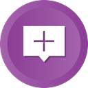 Chat, Bubble, speech, Add, Comment DarkOrchid icon