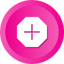 new, create, medical, cross, Add, plus DeepPink icon