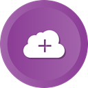 Add, plus, new, create, Cloud, computing DarkOrchid icon
