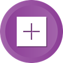 sign, Add, plus, new, math, create DarkOrchid icon