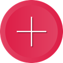 Add, plus, new, math, create, signs, maths Crimson icon