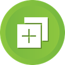 Add, plus, new, create, more YellowGreen icon