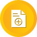 notic, document, File, Add, plus, contract, Agreement Orange icon