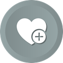 love, Favorites, wedding, Add, Heart, romance LightSlateGray icon