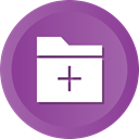 Folder, File, Add, Data, storage DarkOrchid icon