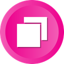 new, tab, window, Add, plus, maximize DeepPink icon