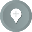 more, Gps, location, Add, Map, navigation, pin LightSlateGray icon