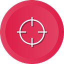 Target, Goal, focus, objective, Archery, Aim, success Crimson icon